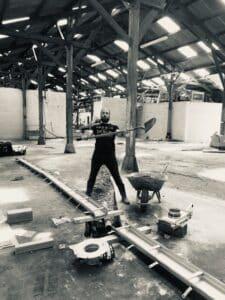Construction du hangar